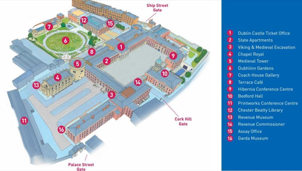 Dublin Castle map