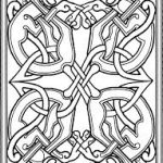 Book of Kells Colouring Page