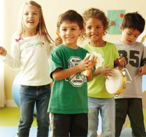 kids playing at gymboree music classes