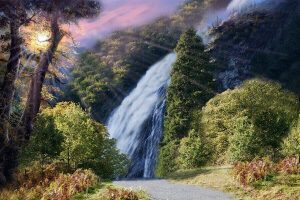 powerscourt waterfall in co wicklow